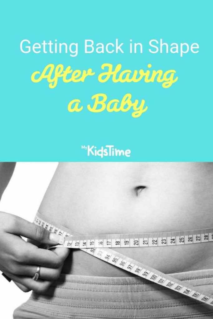 getting back in shape after having a baby