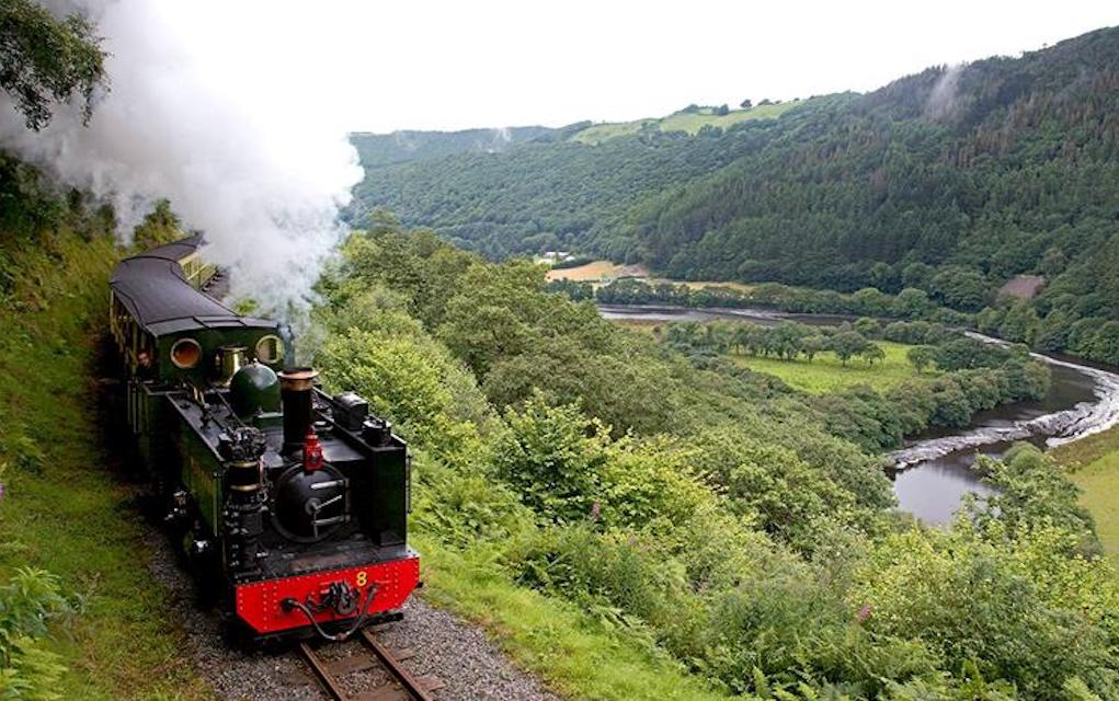 Vale of Rheidol railway for train rides in the UK