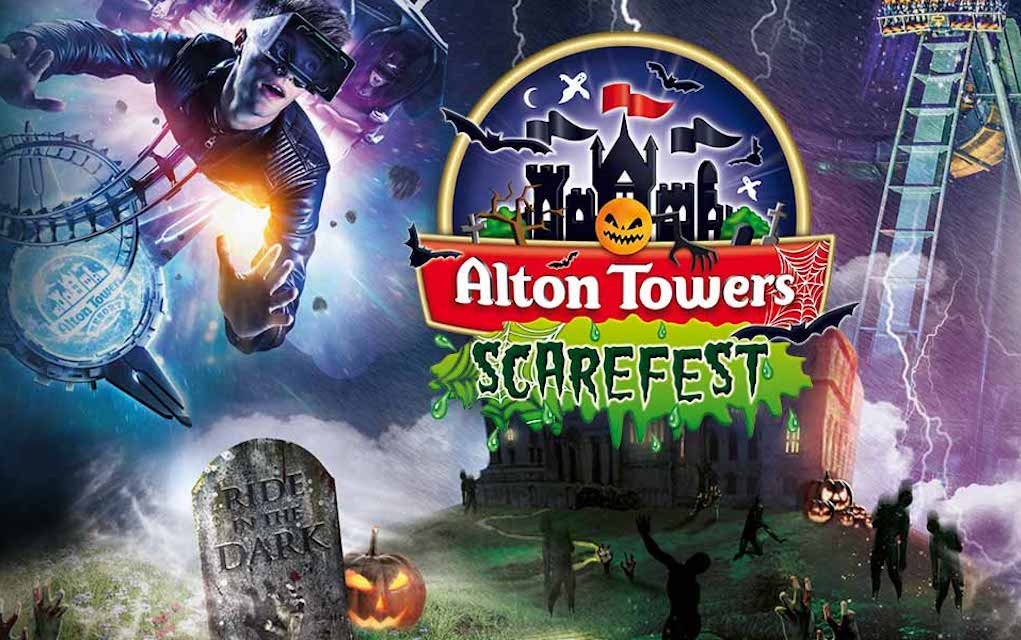 Alton Towers Scarefest for Halloween Events in the UK for kids