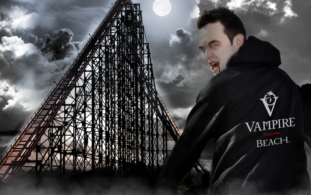 Blackpool pleasure beach for halloween events