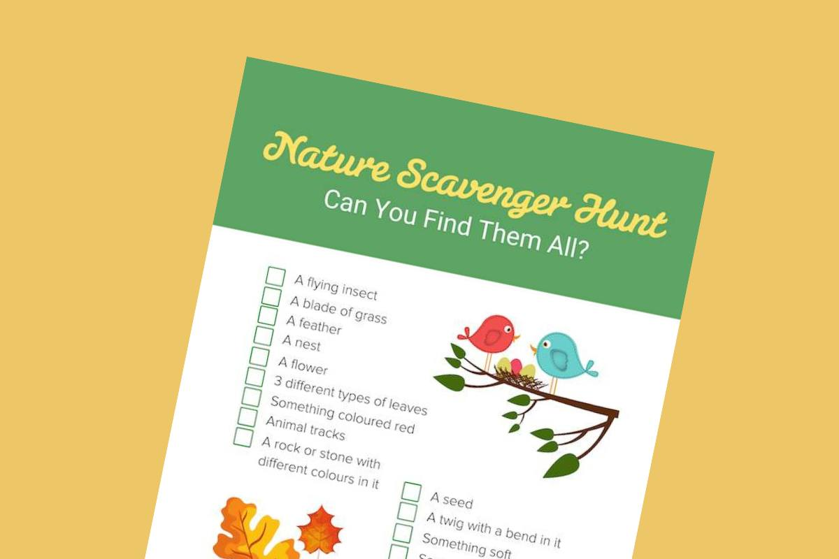 Nature scavenger hunt lead - Mykidstime
