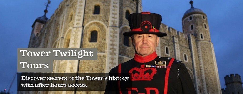 Tower of London Twilight Tours halloween events in the UK