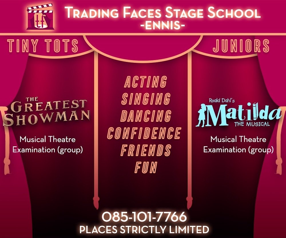 Trading Faces Stage School Ennis benefits of performing arts for your child