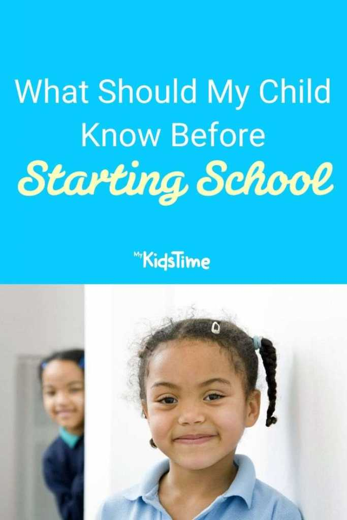 What Should My Child Know Before Starting School