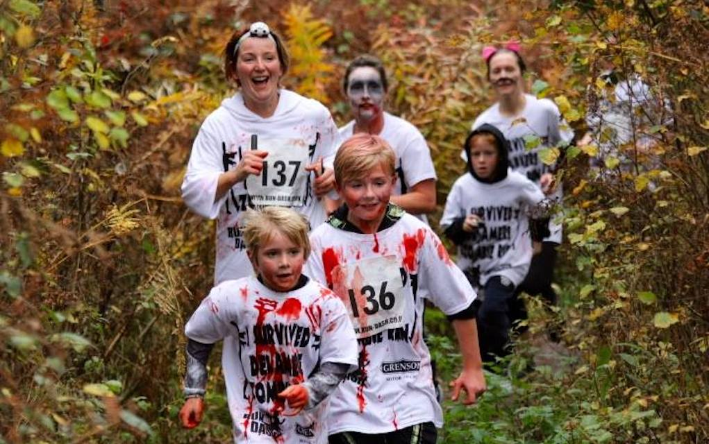 Zombie run for Halloween events for kids