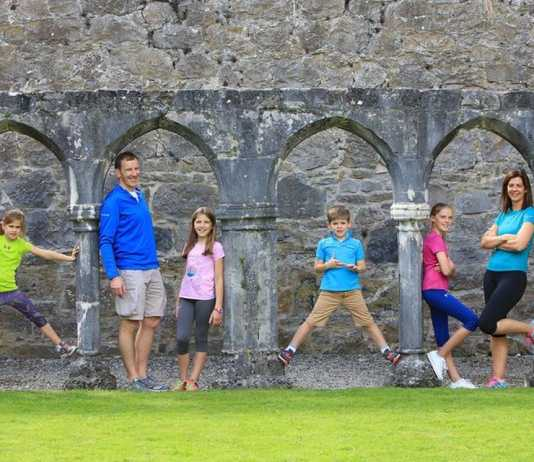 family at portumna abbey