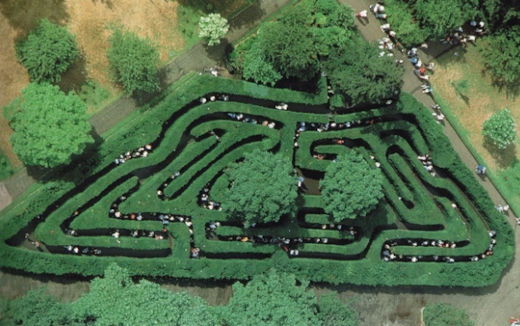 Hampton Court Maze for mazes in the UK