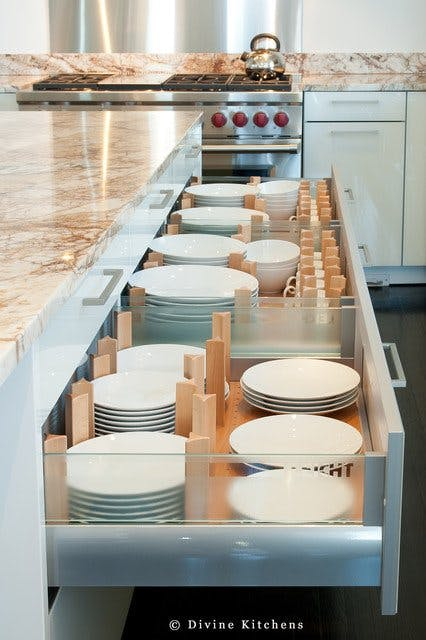 pull out drawer for plates