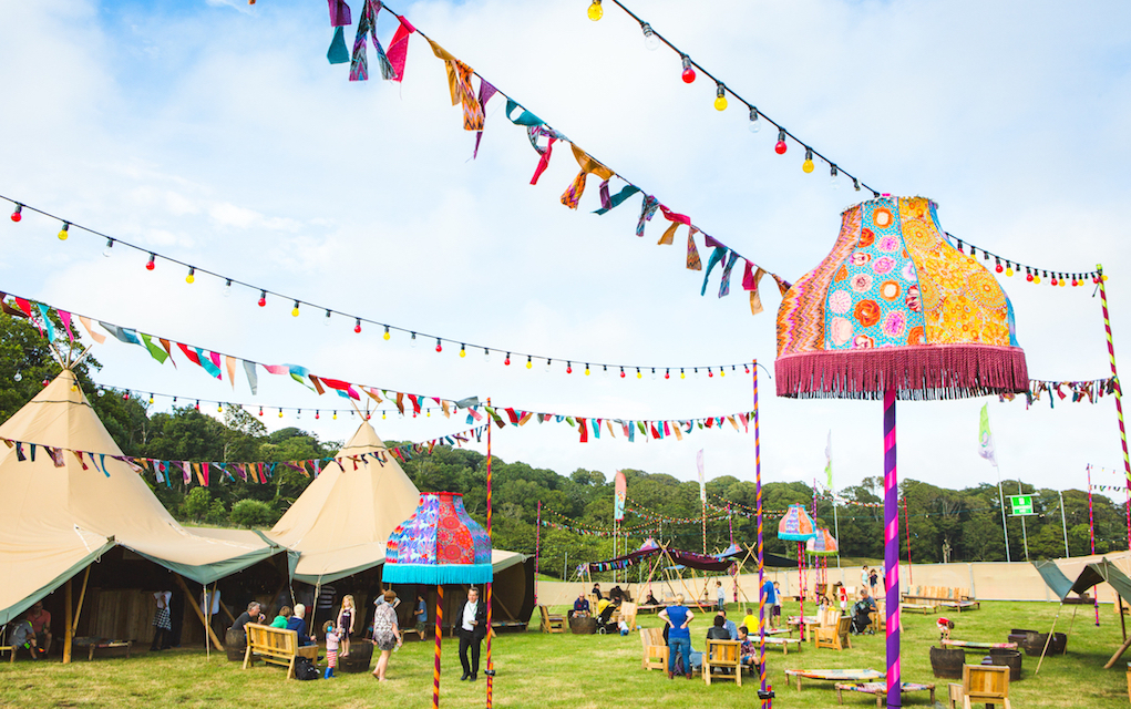 Camp Bestival for family glamping in the UK