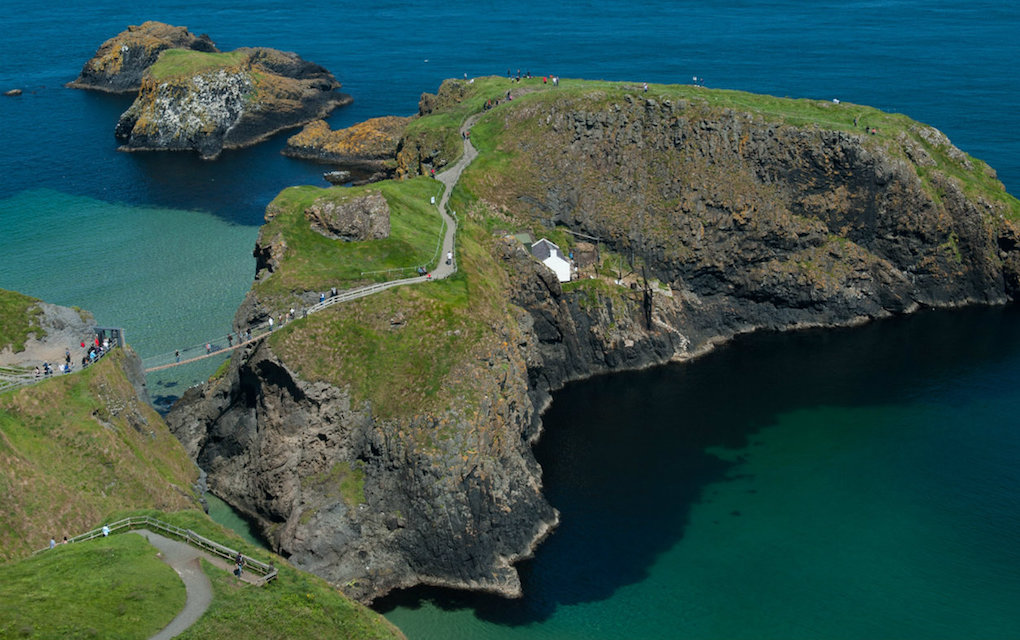 Carrick a Rede Bridge for unusual places to visit in the UK