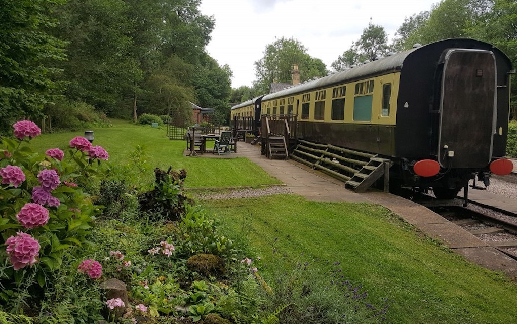 Coalport Station for family glamping in the UK