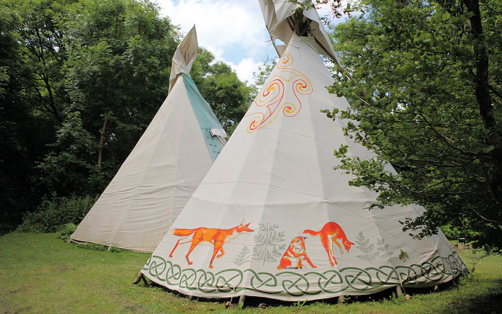 Cornish Tipis for family glamping in the UK