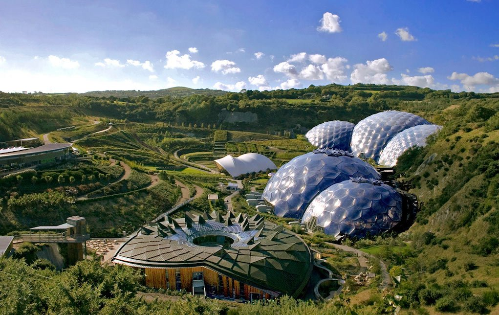 eden Project for unusual places to visit in the UK