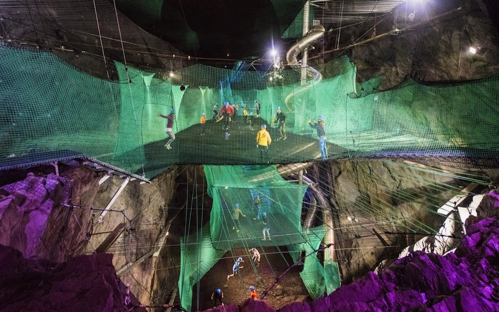 Zipworld Wales for unusual places to visit in the UK