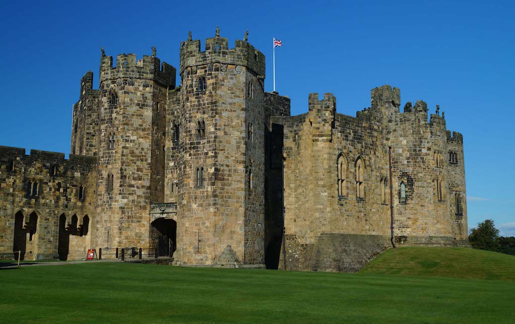 Alnwick Castle for unusual places to visit in the UK