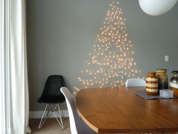 christmas tree wall lights