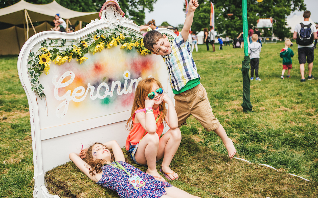 Geronimo Festival for family glamping in the UK