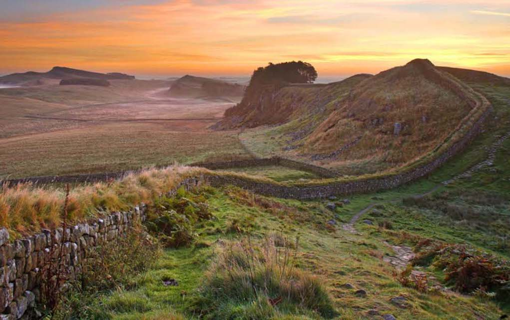 Hadrian's Wall for unusual places to visit in the UK