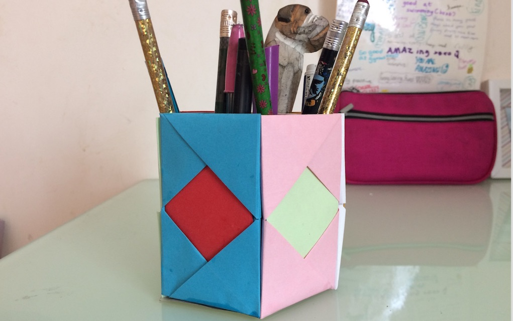 Watch How To Make A Funky Pen Holder From Paper