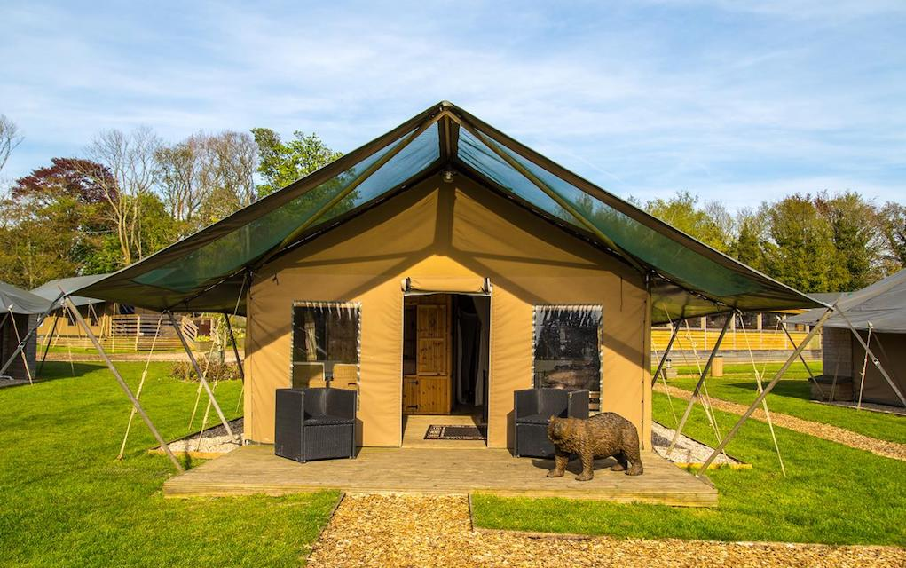 Port Lympne for family glamping in the UK