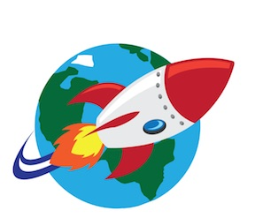 ocket launch at Birr Castle for Space Week 2018