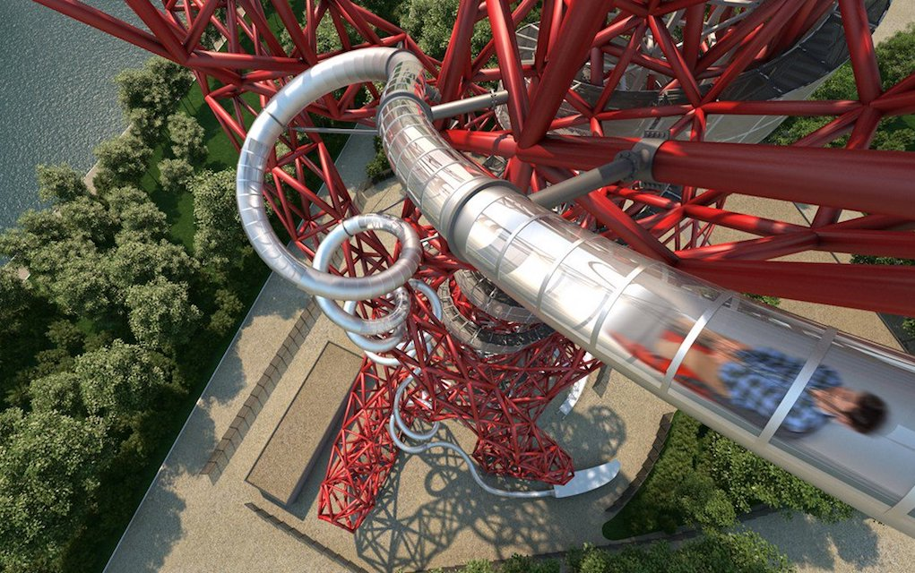 Slide at the Orbit for unusual places to visit in the UK