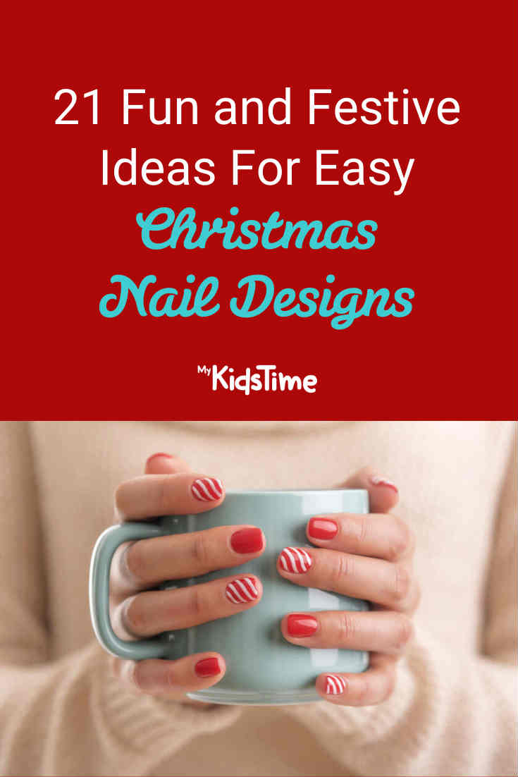 21 Festive Ideas For Easy Christmas Nail Designs