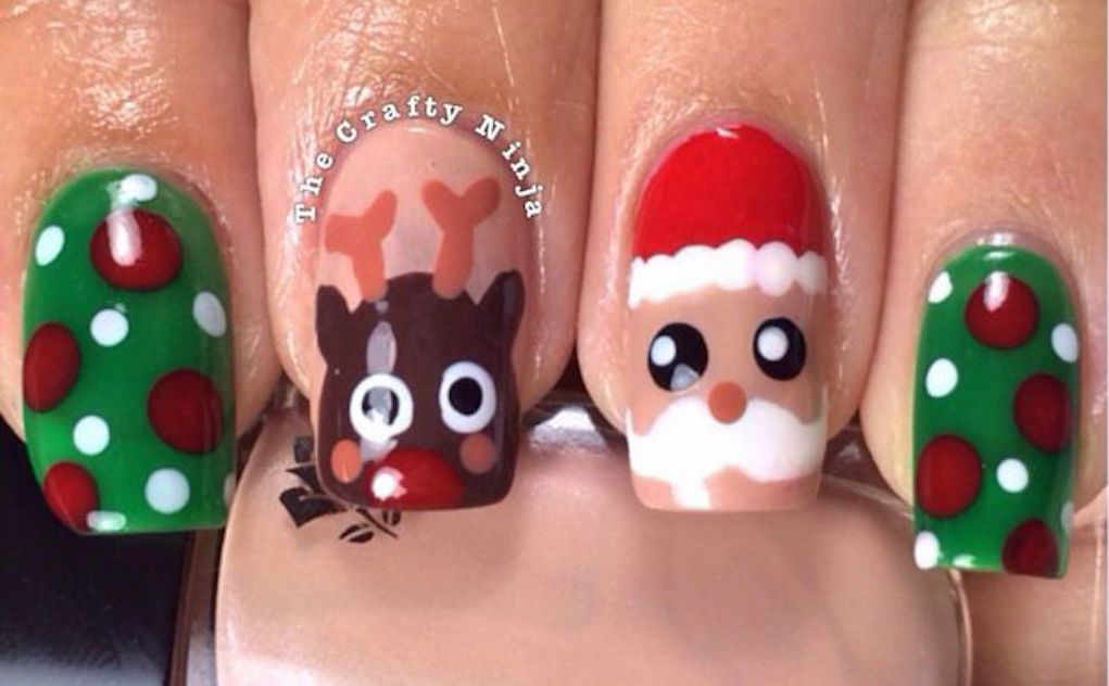 Christmas nail designs - thecraftyninja