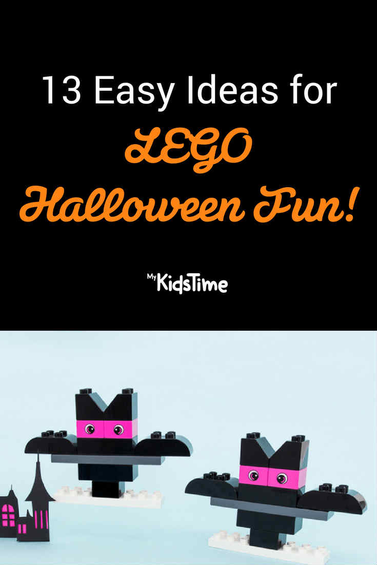 Lego Halloween pinterest graphic