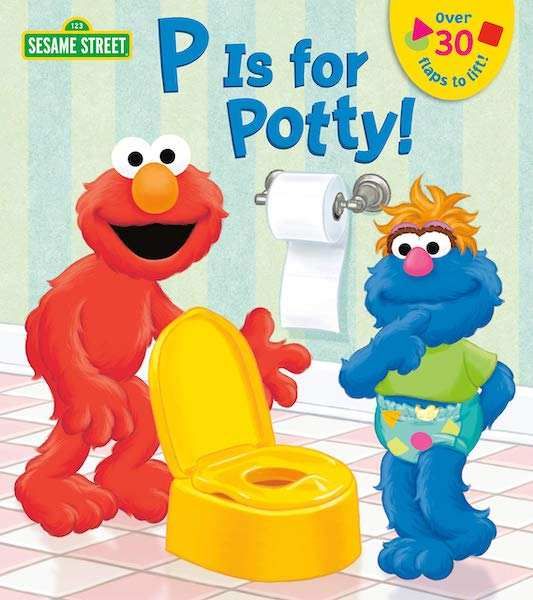 P is for Potty for potty training books