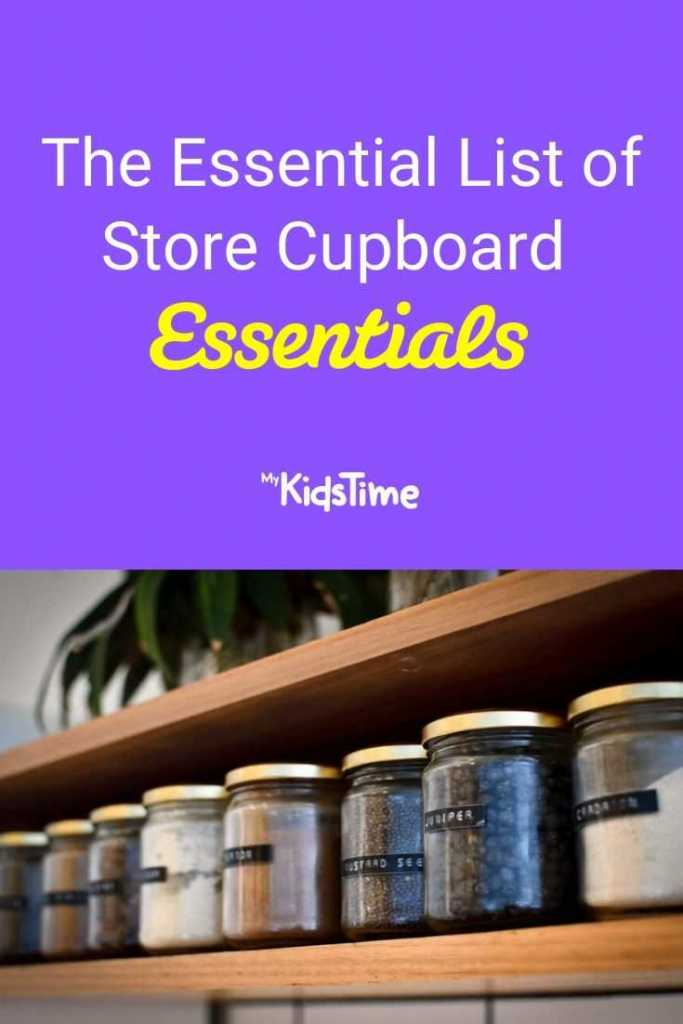The Essential List of Store Cupboard Essentials
