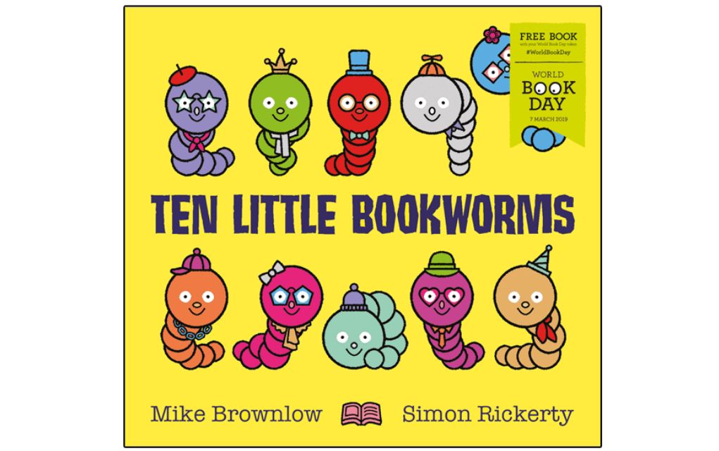 Mykidstime World Book Day 2019 Ten Little Bookworms