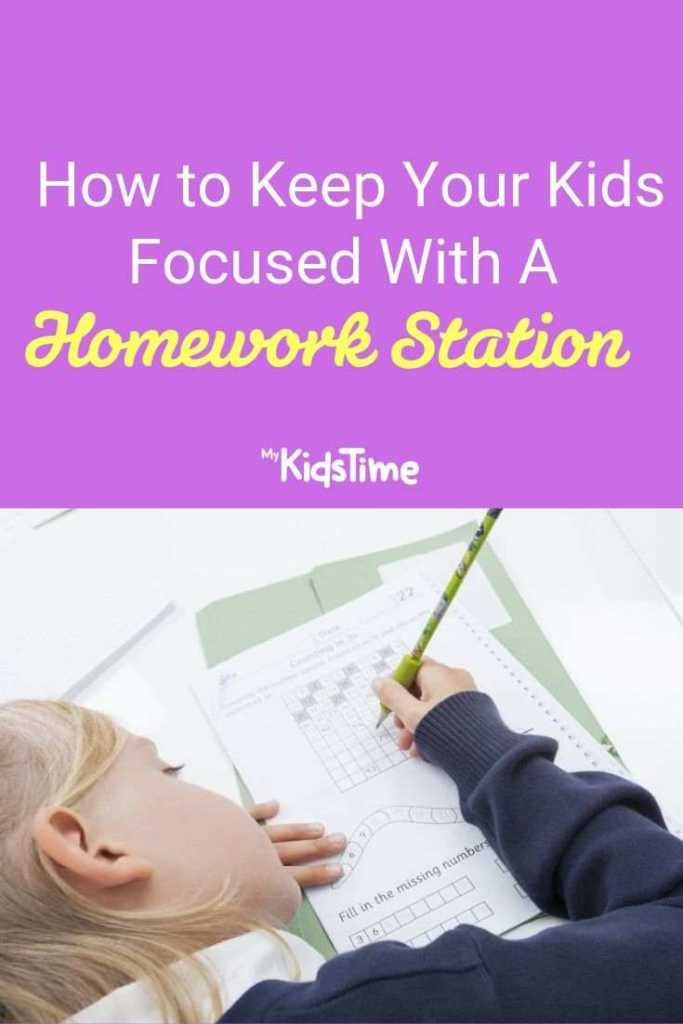 how to keep your kids focused with a homework station