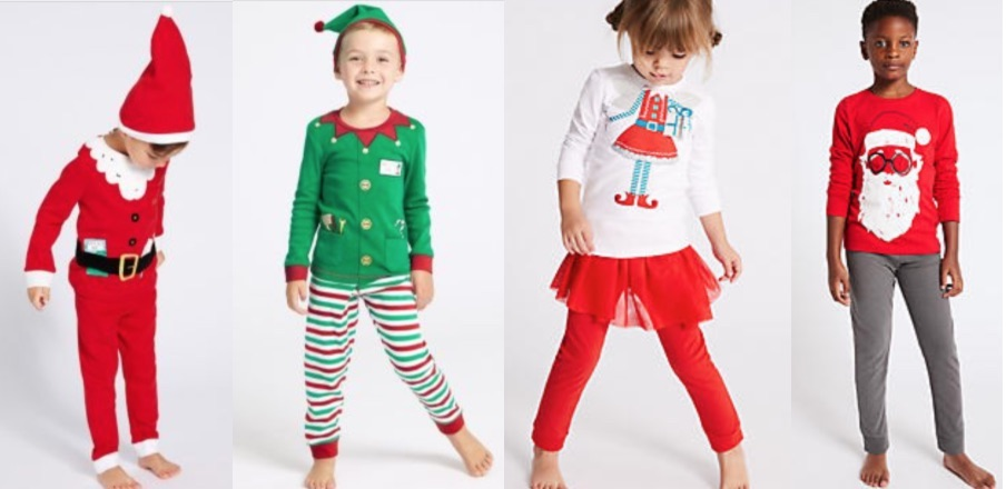 Character Sleepwear for kids for Christmas from M&S