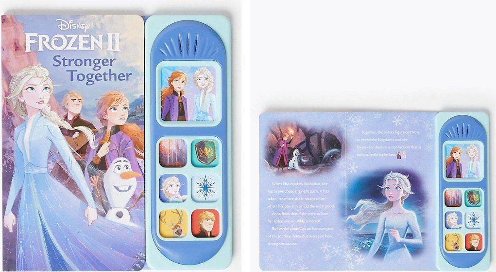 Disney Frozen 2 Sound Book from M&S festive gifts for under €20