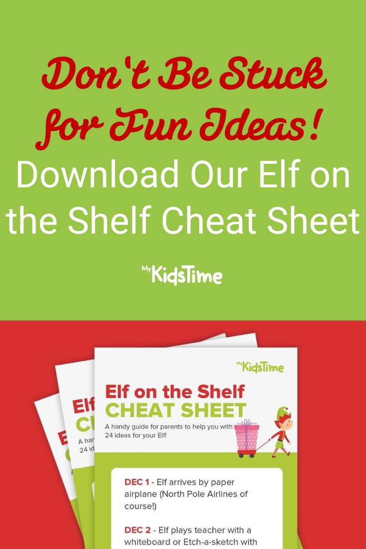 Don't Be Stuck For Ideas_ Elf On The Shelf Cheat Sheet
