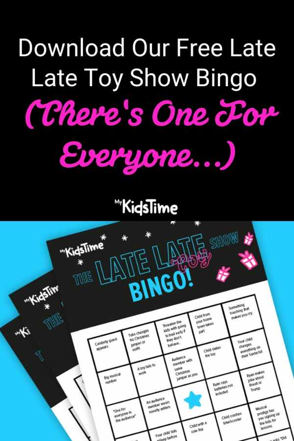 Download Our Free Late Late Toy Show Bingo (There's One For Everyone...)