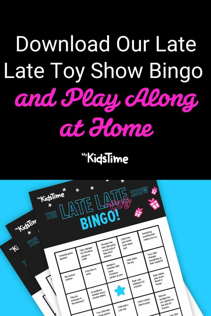 Download Our Free Late Late Toy Show Bingo