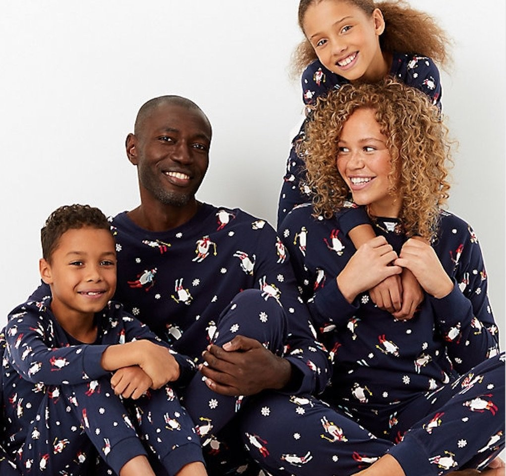 Festive Christmas Pjs for all the family from M&S mad about Christmas