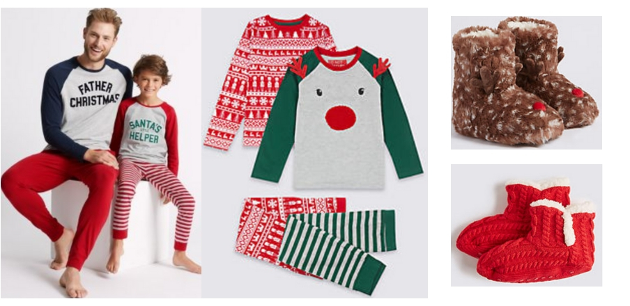 Festive Favourites Sleepwear for kids for Christmas from M&S
