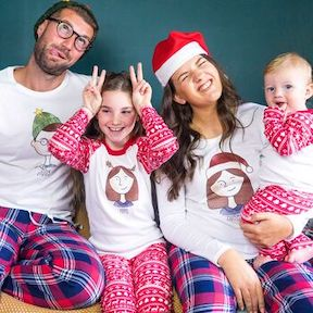 Festive sleepwear for kids personalised-family-portrait-christmas-pyjamas from Not On The High Street