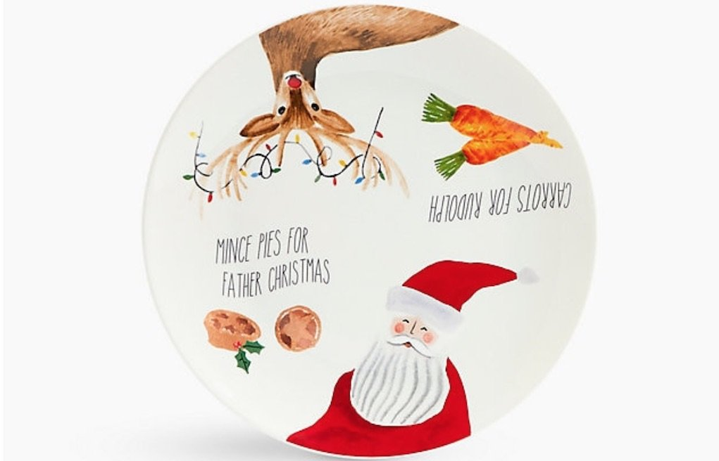 M&S Christmas Eve Santa plate mad about Christmas