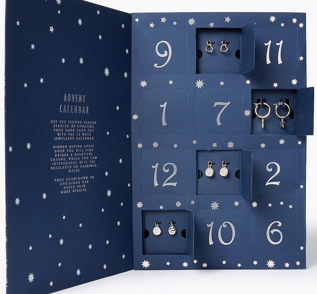 M&S jewellery advent calendar mad about Christmas