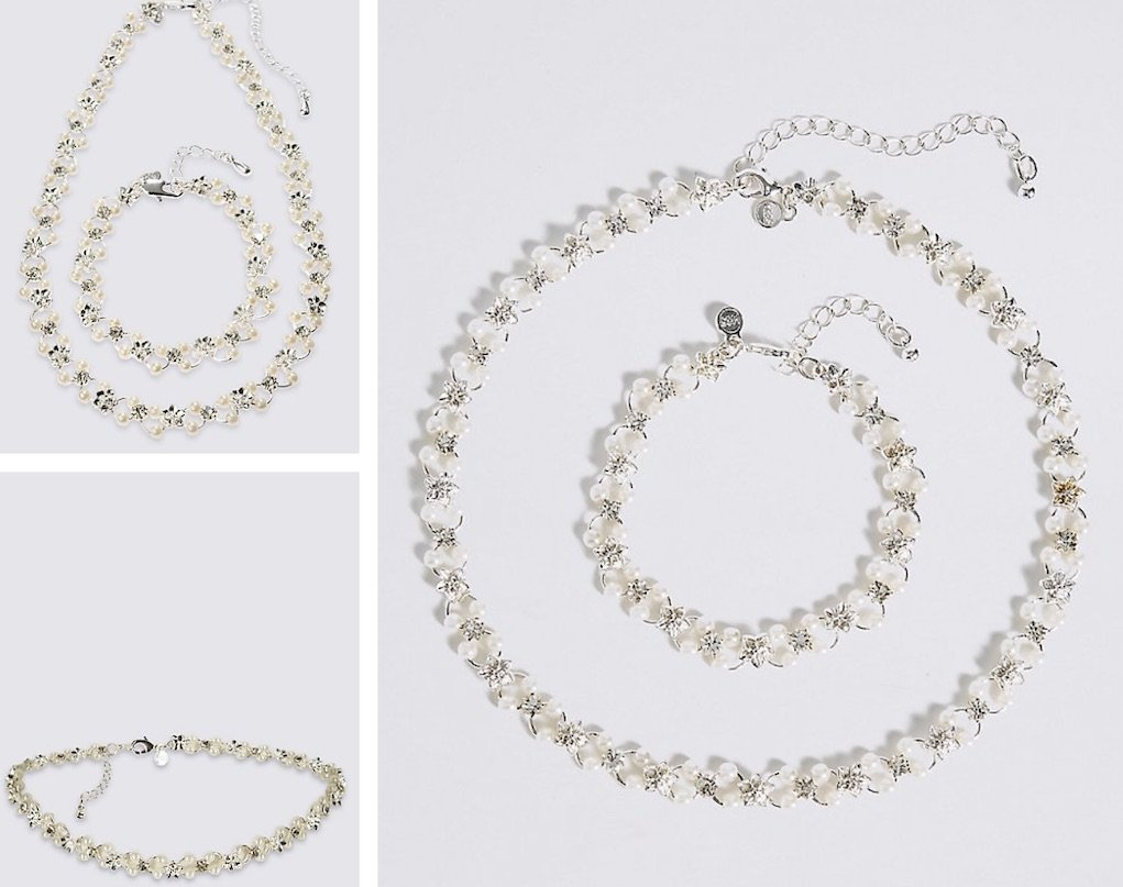 M&S necklace set festive gifts for under €20