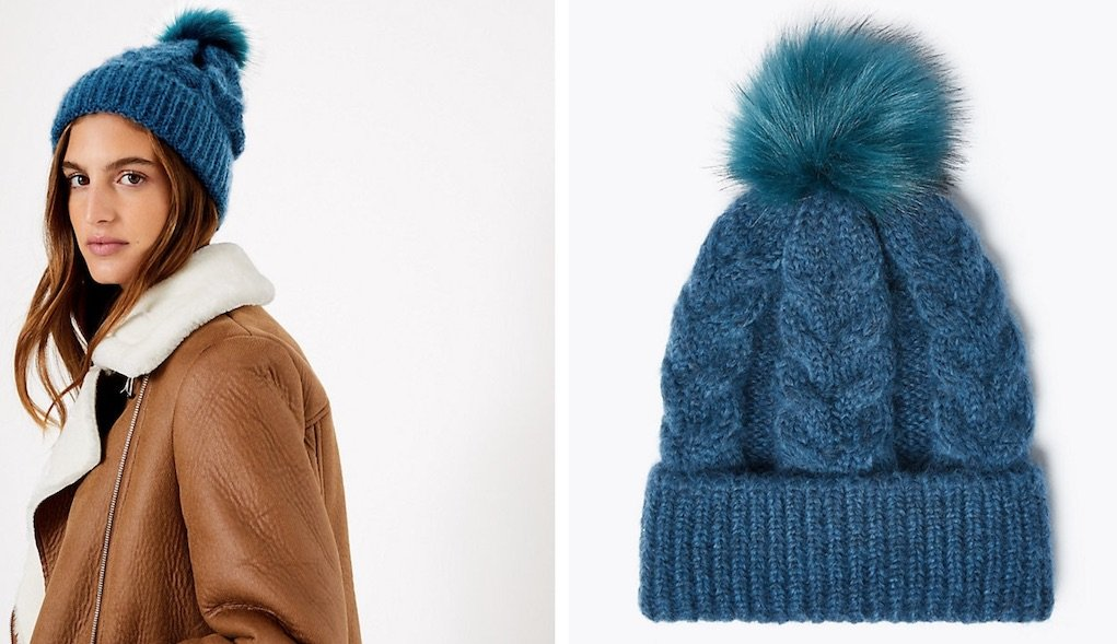 Pom pom beanie from M&S festive gifts for under €20