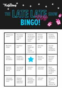 late late toy show bingo