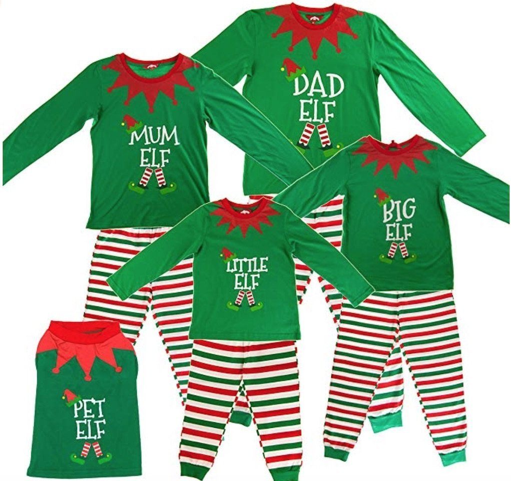 made by elves festive sleepwear for kids from Amazon
