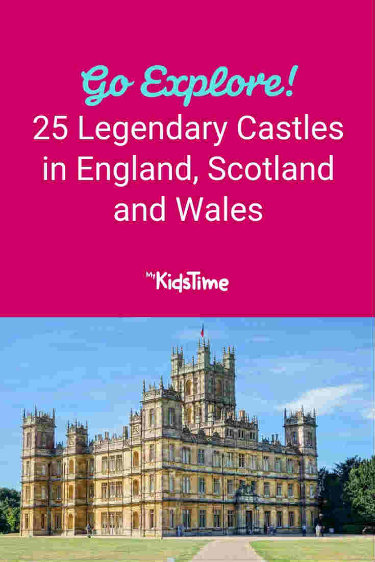 Mykidstime castles in England, Scotland and Wales
