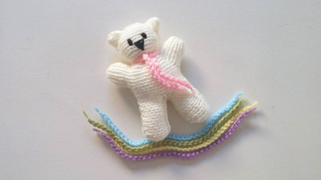 knit your own teddy kid friendly knitting projects