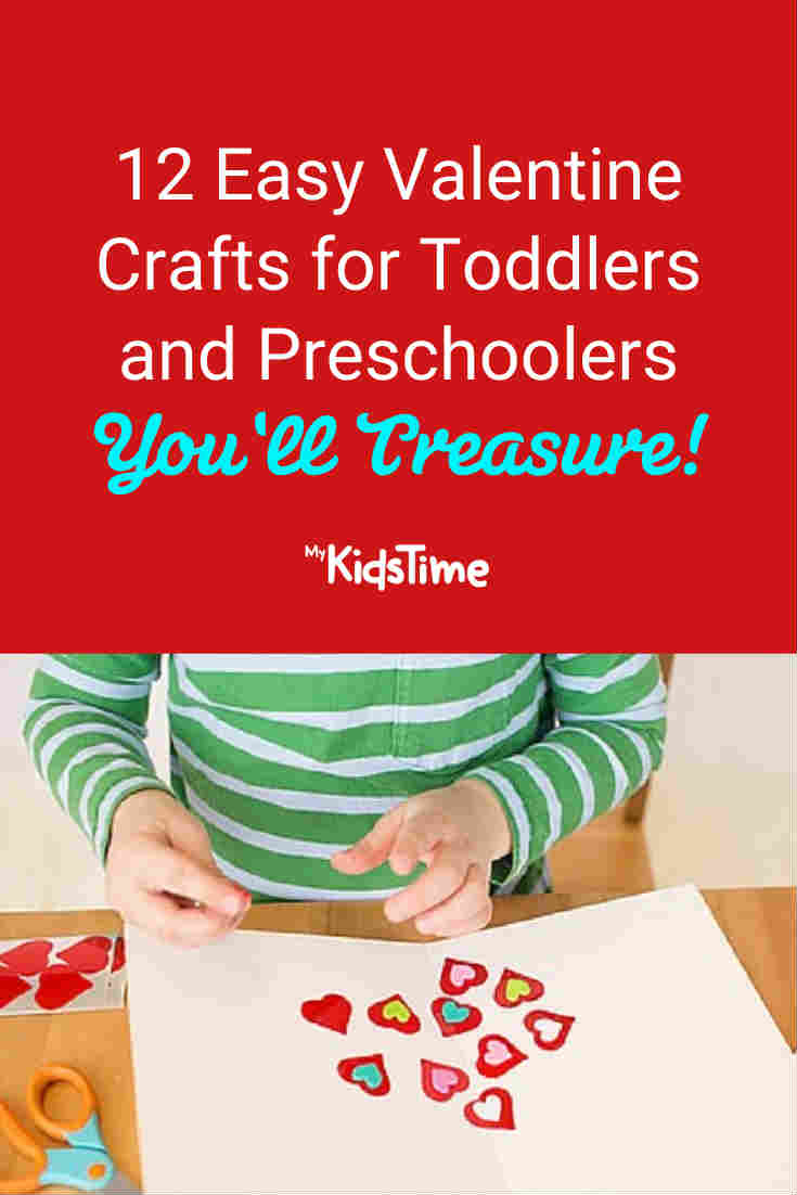 12 Easy Valentine Crafts for Toddlers & Preschoolers You'll Treasure - Mykidstime